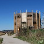 Skocjan bay in Slovenia - birdwatching tower
